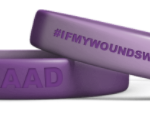 Awareness Bands FRONT: WNAAD  BACK: #IFMYWOUNDSWEREVISIBLE